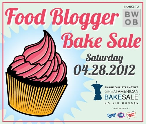 Food Blogger Bake Sale 2012 flyer