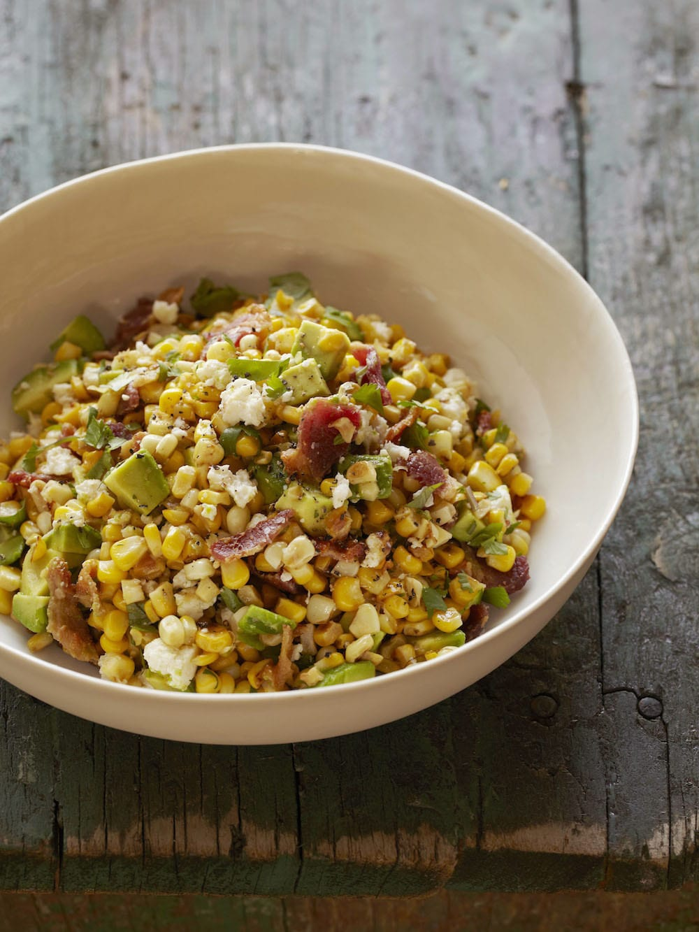 Avocado Bacon and Corn Salad from Absolutely Avocados by Gaby Dalkin