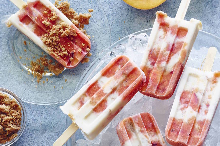 Peaches 'n Cream Pops - What's Gaby Cooking