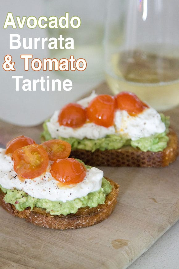 Avocado and Burrata Tartine from www.whatsgabycooking.com