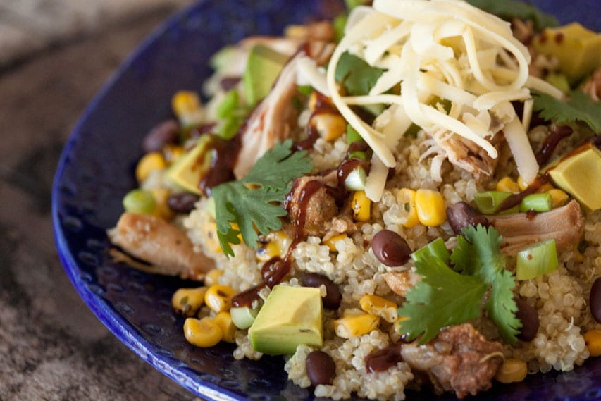 BBQ Chicken Quinoa Salad1