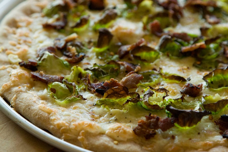 Bacon Brussel Pizza from What's Gaby Cooking