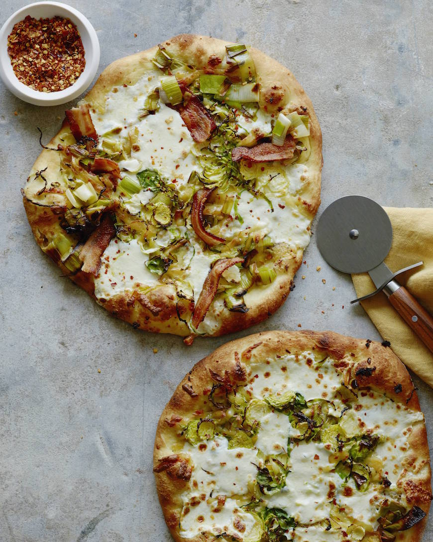 Bacon Brussels Leek Pizza from www.whatsgabycooking.com