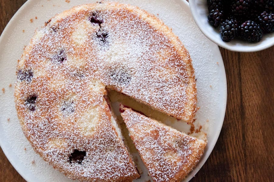 Blackberry Buttermilk Cake - What's Gaby Cooking