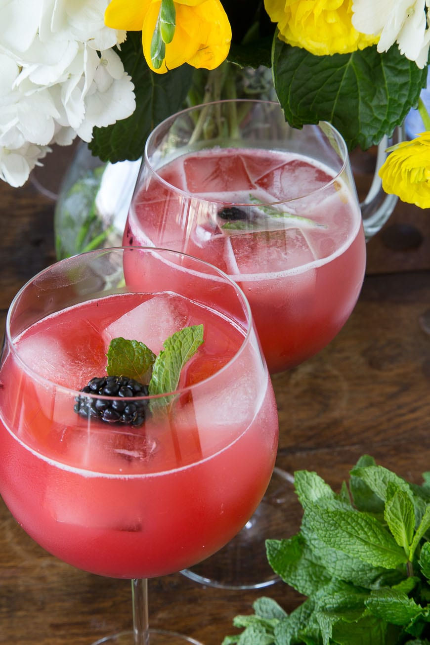 Blackberry Pineapple Smash Cocktails