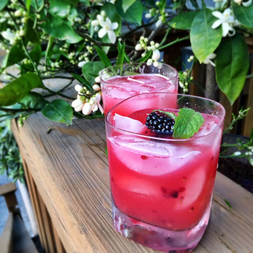 Blackberry Pineapple Smash  for a Mother's Day Brunch Menu from www.whatsgabycooking.com (@whatsgabycookin)