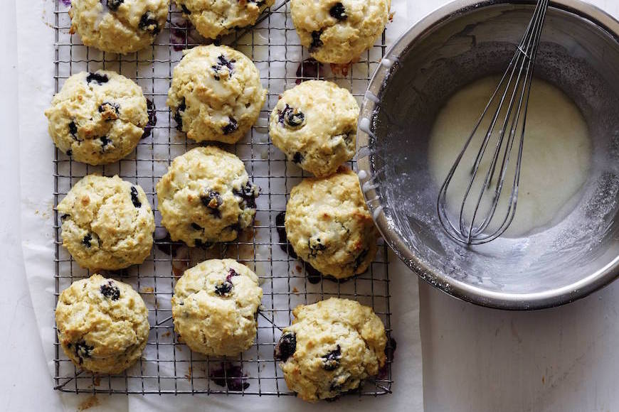 Lemon Blueberry Scones with Lemon Glaze - What's Gaby Cooking