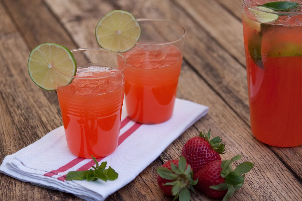 Boozy Strawberry Limeade