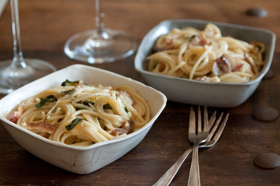 Brie, Bacon and Basil Pasta : What's Gaby Cooking