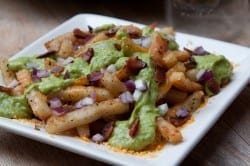 Cheesy Avocado Bacon Poutine