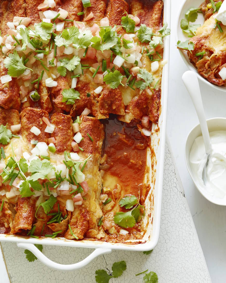 Poblano Chicken Enchiladas from www.whatsgabycooking.com (@whatsgabycookin)