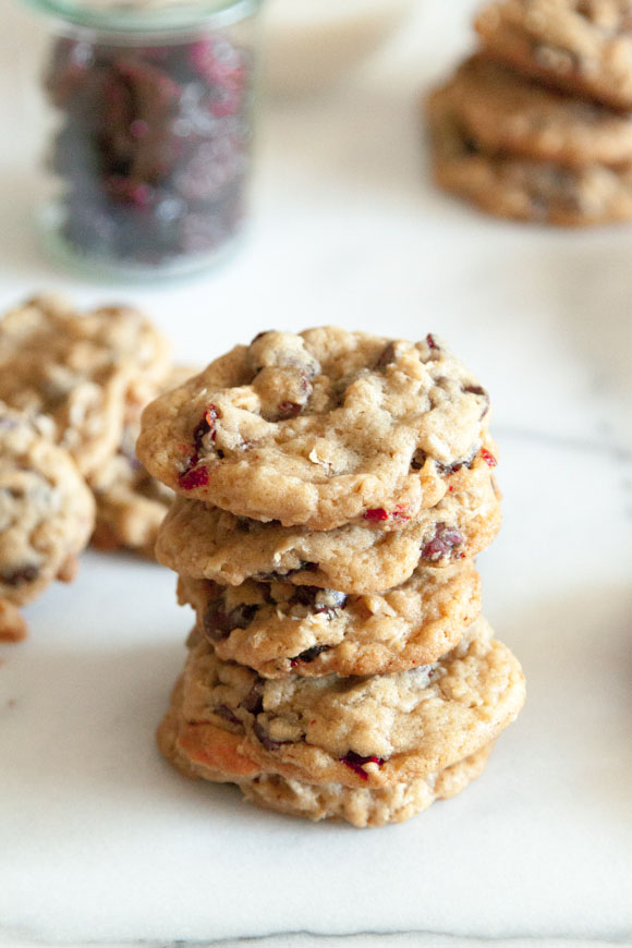 Chocolate Cherry Coconut Cookies / Desserts for Chocolate Lovers from www.whatsgabycooking.com (@whatsgabycookin)