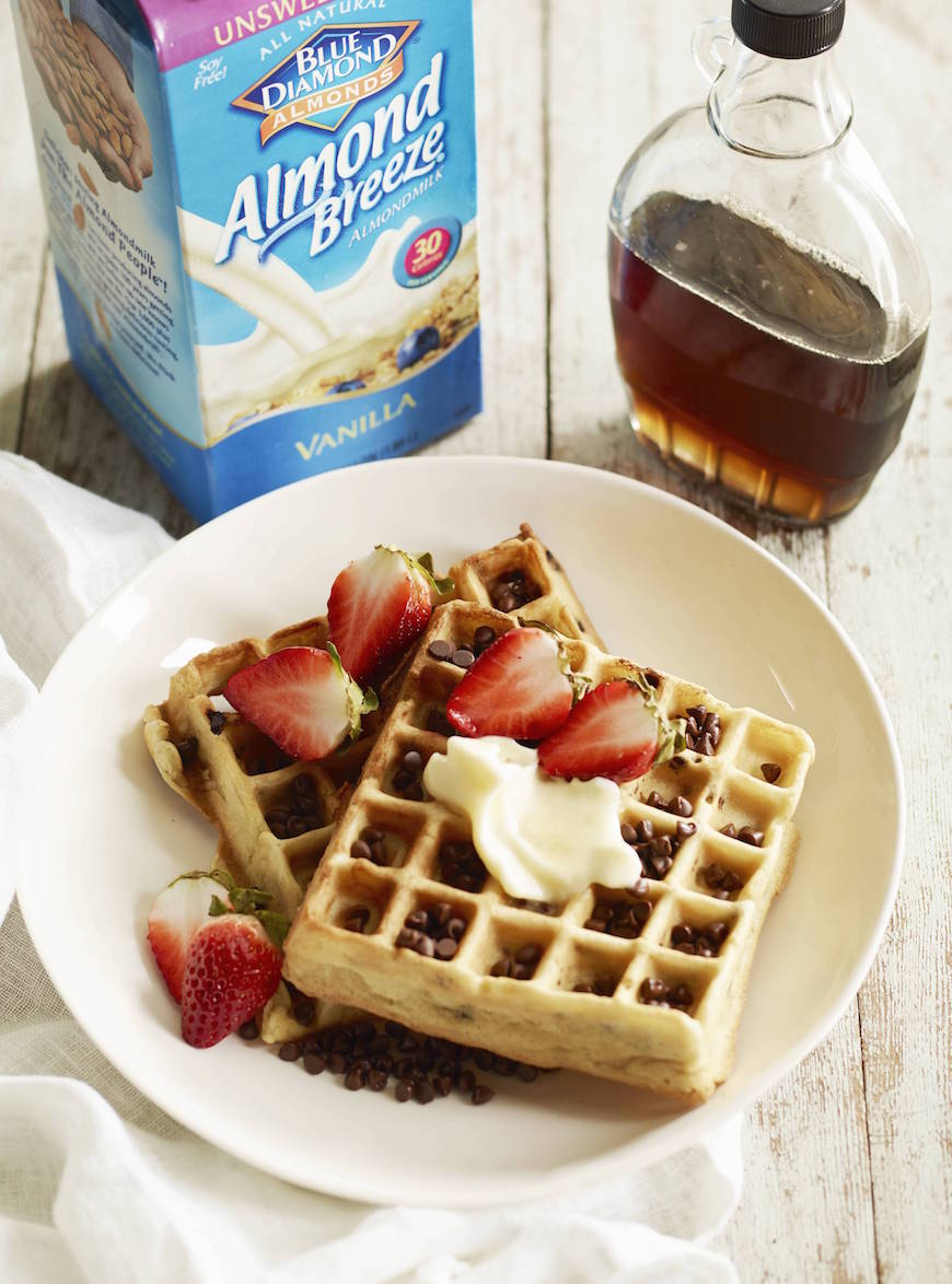 Chocolate Chip Waffles from www.whastgabycooking.com