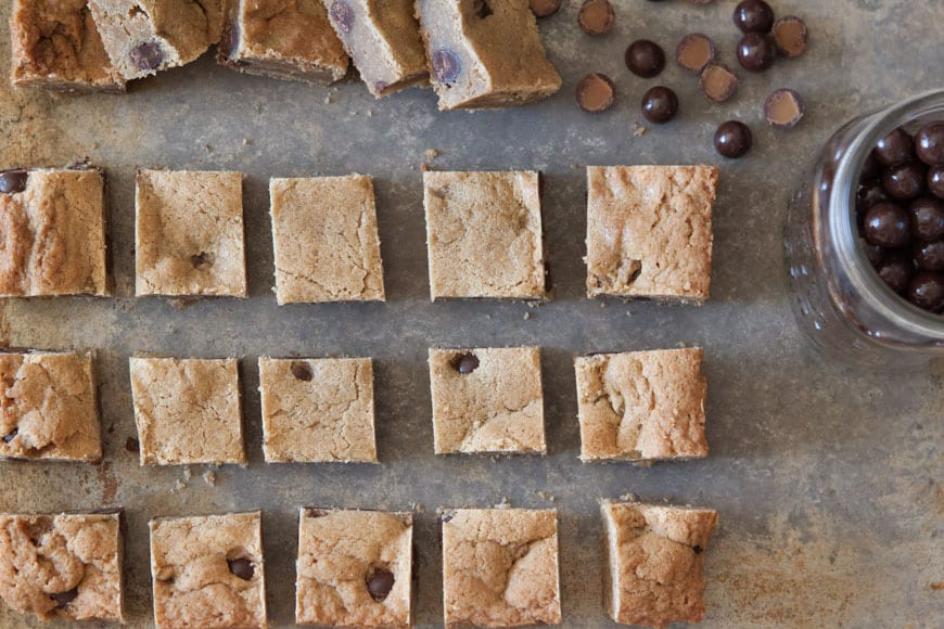 Chocolate Butterscotch Salted Caramels Blondies Recipe