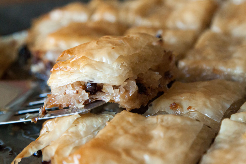Coconut Chocolate Baklava / New Years Eve Menu