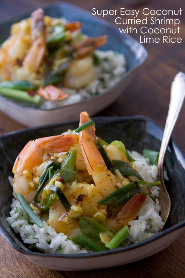 Coconut Curried Shrimp w: Coconut Rice