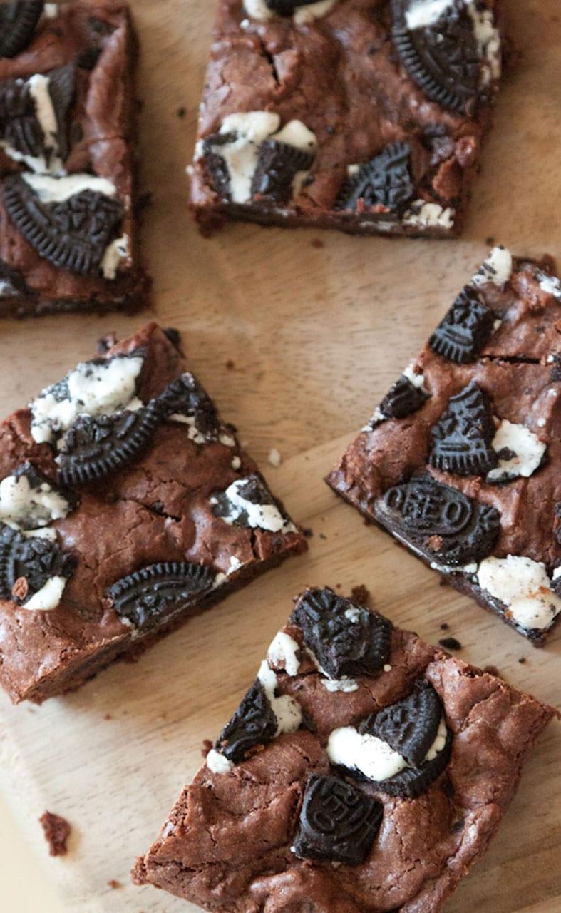 Cookies and Cream Brownies