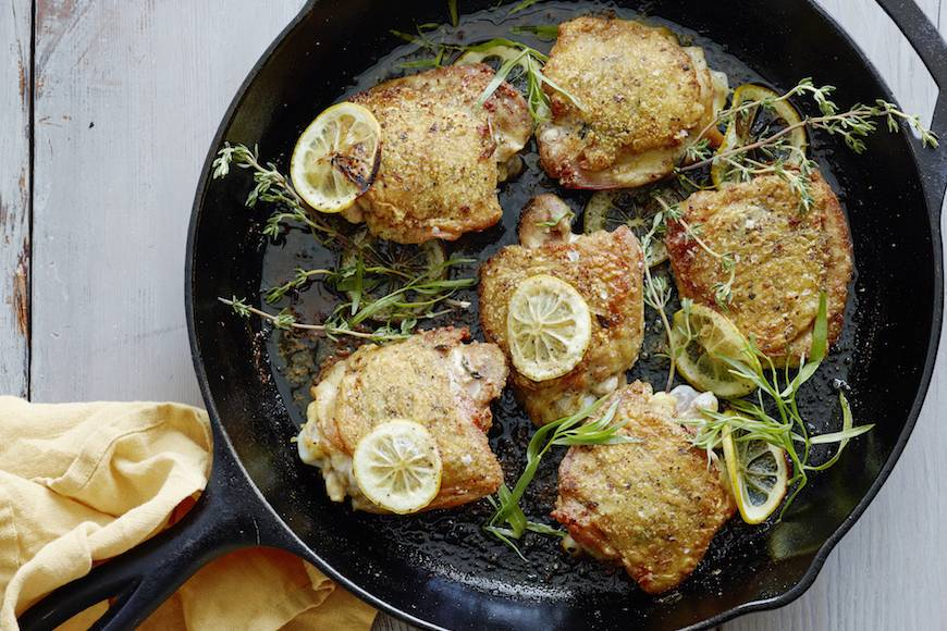 Crispy Lemon Chicken Thighs!
