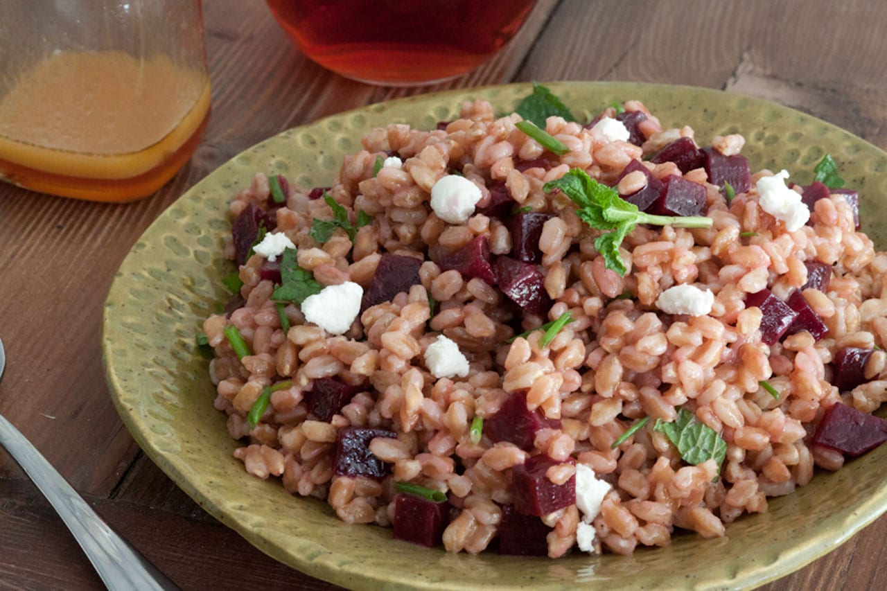 Farro, Beet and Herb Salad