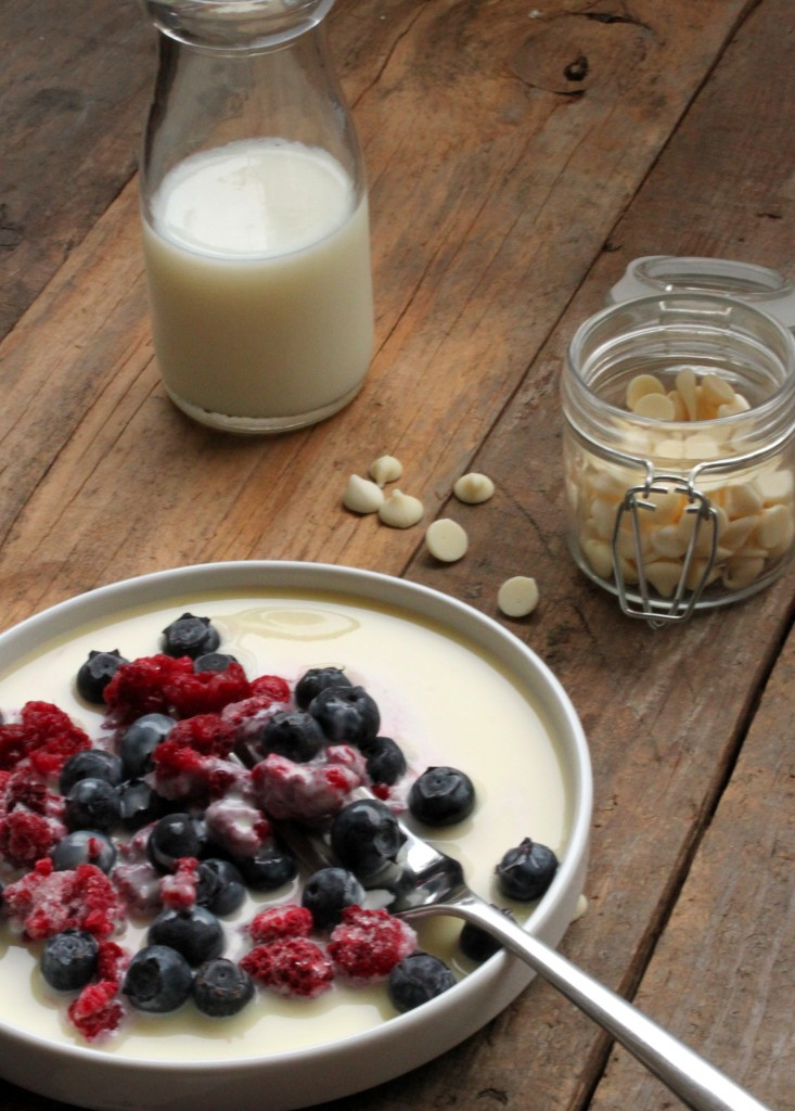 Frozen Berries with a Hot White Chocolate Sauce - What's Gaby Cooking