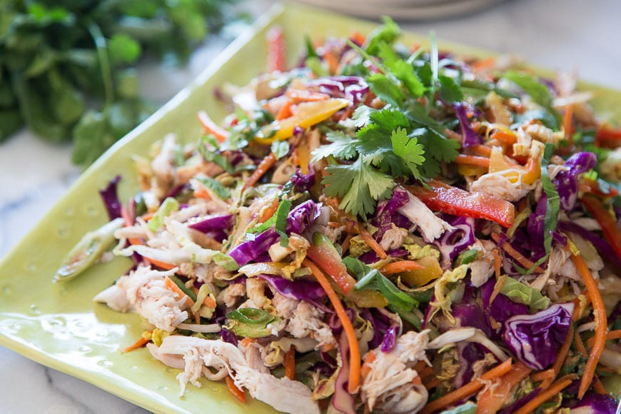 Asian Chicken Slaw from What's Gaby Cooking