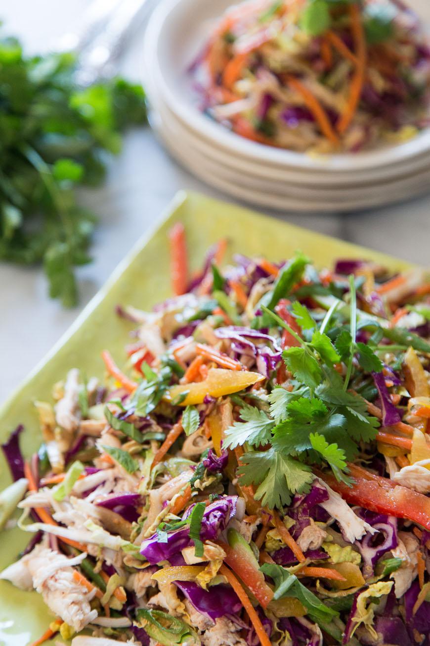 Asian Chicken Slaw / Healthy Recipes to Kick Start 2015