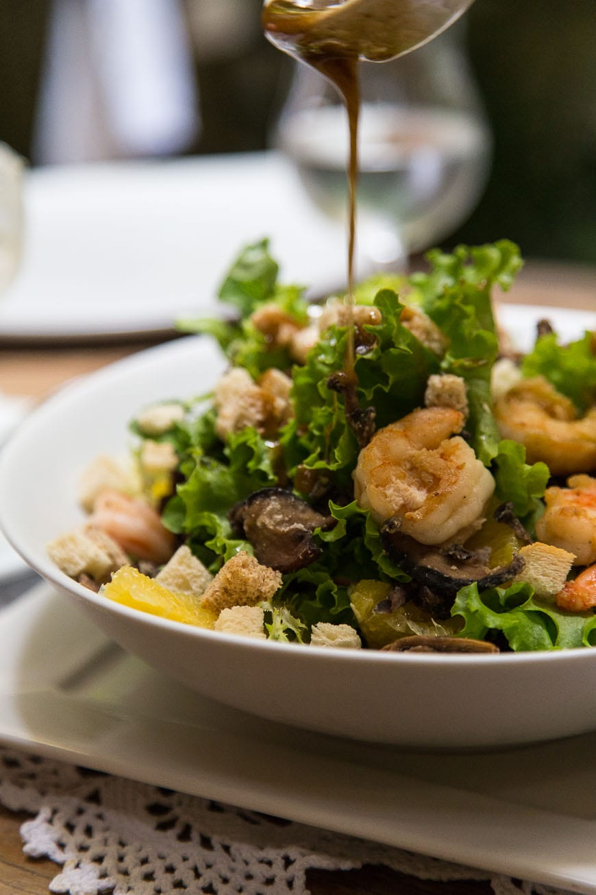 Bahia Shrimp with Salad