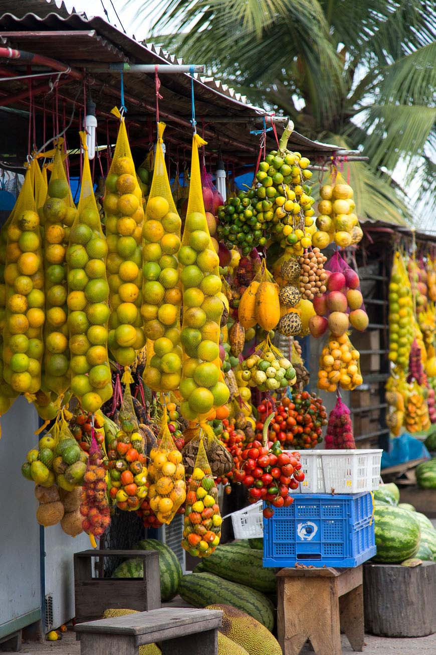 Local fruits in the Amazon Rainforest