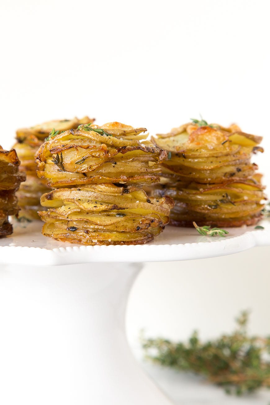 Parmesan Potato Stacks with Thyme