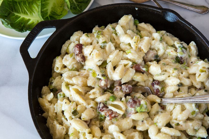Ham and Cheese Skillet Pasta