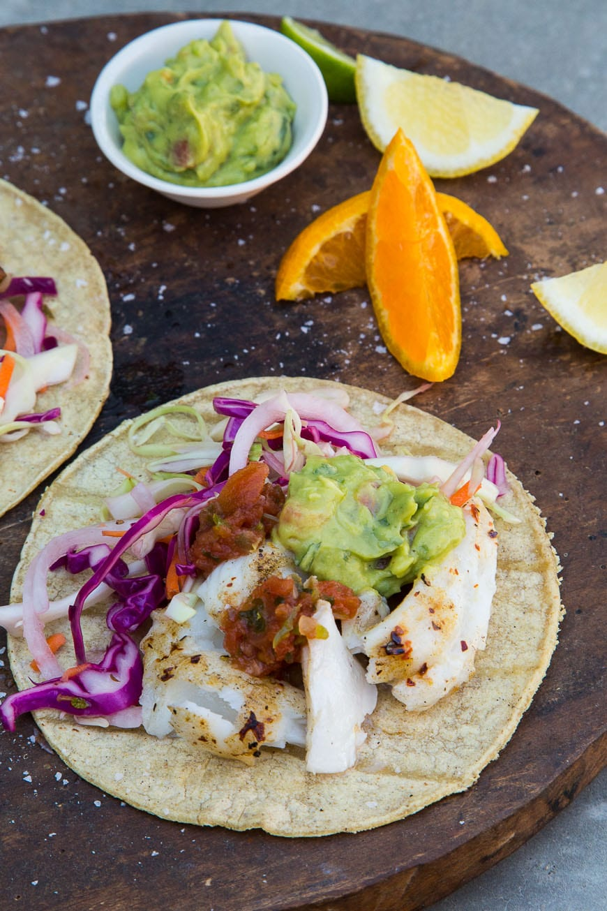 Perfect fish tacos what 39 s gaby cooking for Cabbage slaw for fish tacos