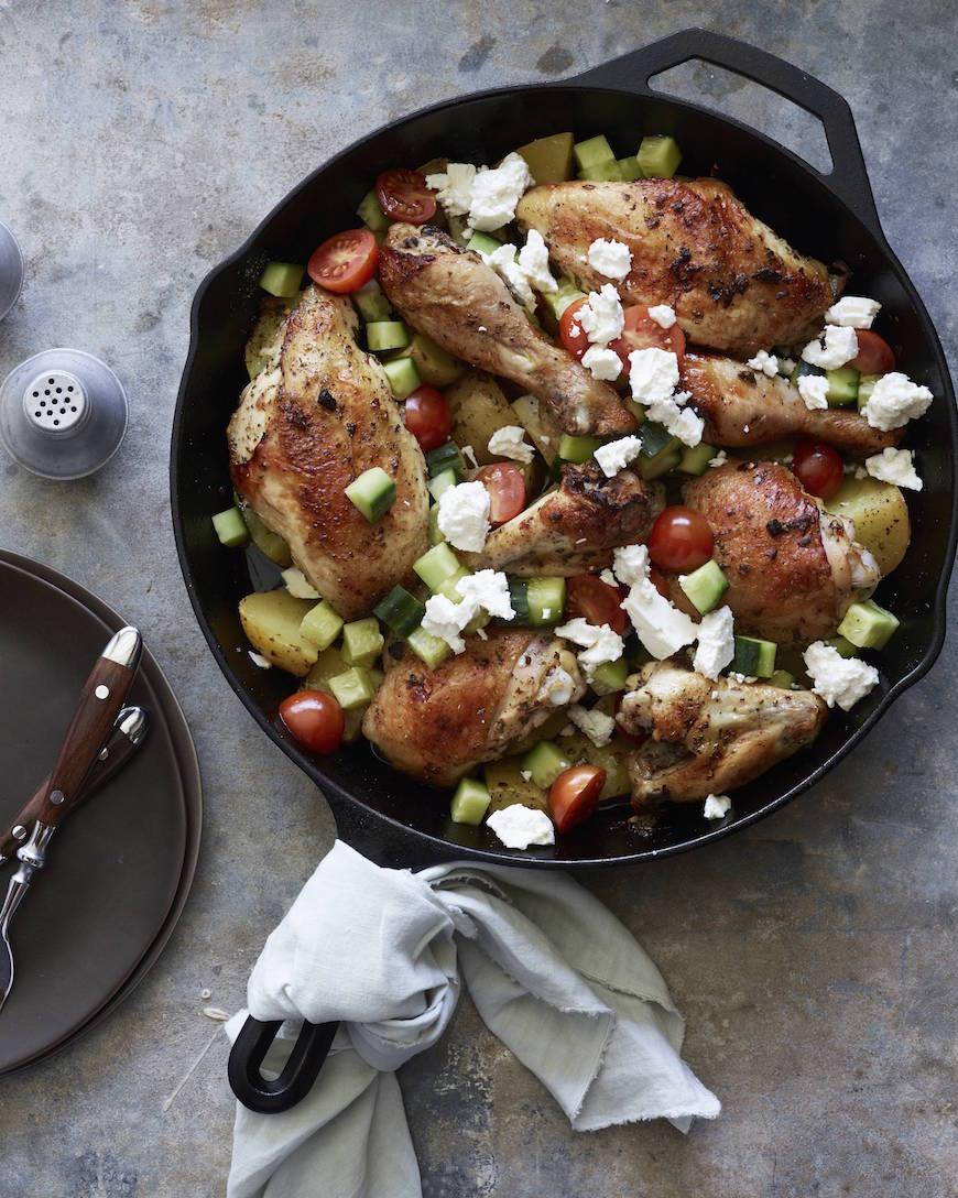 Greek Chicken and Potatoes from www.whatsgabycooking.com