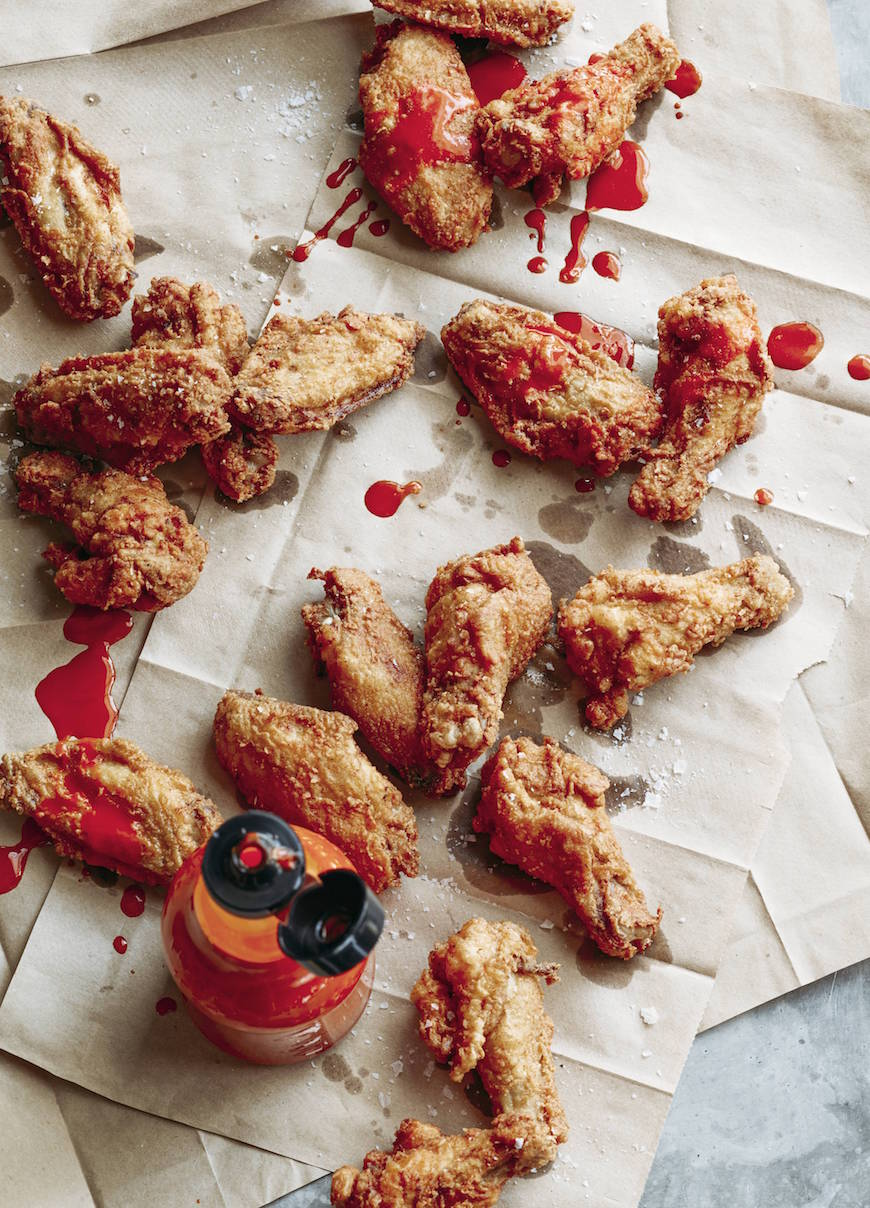 Fried Chicken Wings are mandatory for any kind of game day celebration! These are perfectly seasoned and extra delicious when slathered with hot sauce