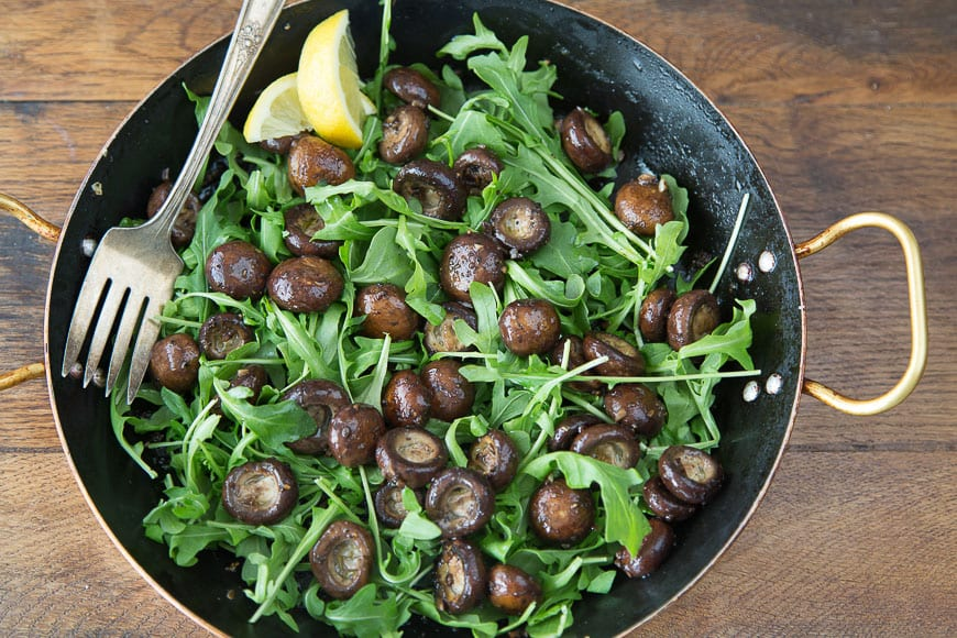 Image result for arugula fresh and cooked