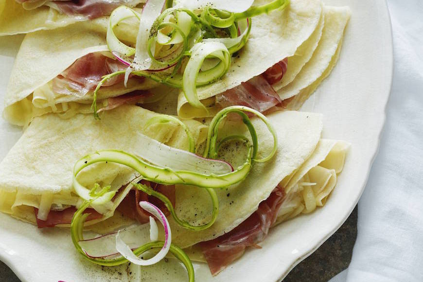 Ham and Cheese Crepes from www.whatsgabycooking.com (@whatsgabycookin)