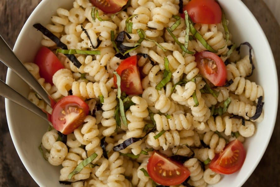 Herbed Pasta Salad with Goat Cheese