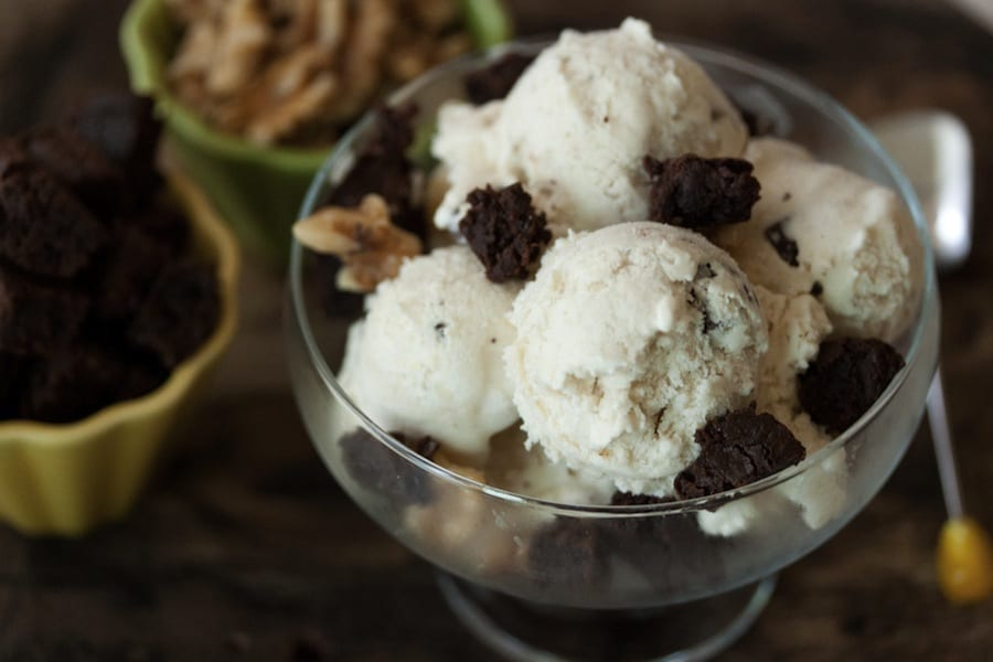 Homemade Chunky Monkey Ice Cream