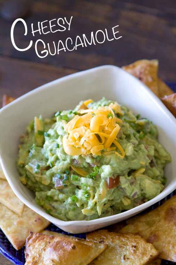 Cheesy Guacamole from www.whatsgabycooking.com