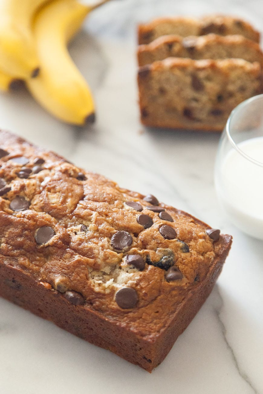 Chocolate Chip Banana Bread – my favorite way to start the day!
