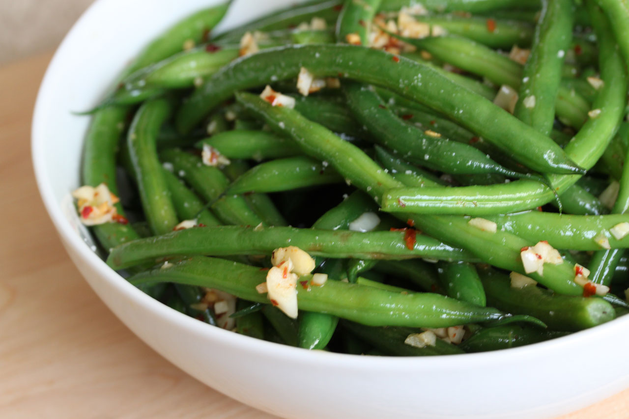 print link spicy garlic green beans ingredients 1 lb green