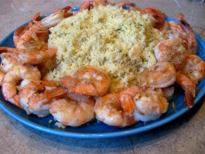 Shrimp Scampi with Couscous - What's Gaby Cooking