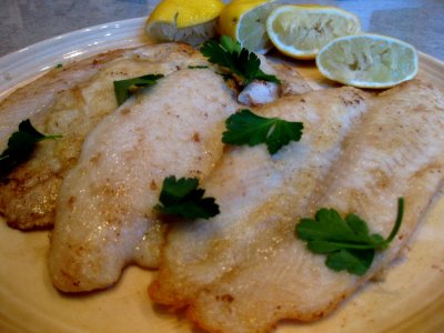 Pan Fried Sole with Lemon