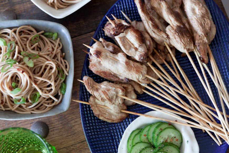Chicken Satay with Peanut Noodles