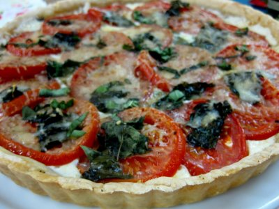 Basil and Tomato Tart - What's Gaby Cooking
