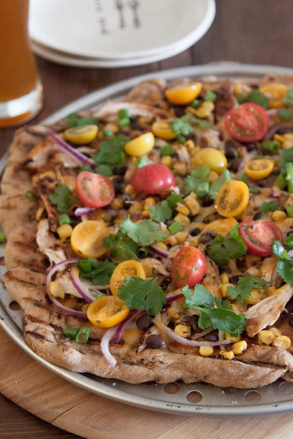 Grilled BBQ Chicken Pizza from What's Gaby Cooking