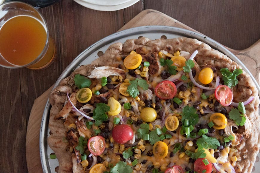 Grilled BBQ Chicken Pizza from www.whatsgabycooking.com