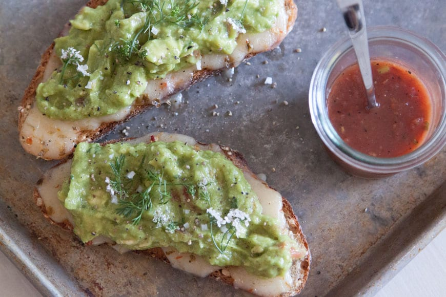 Guacamole Cheese Toast