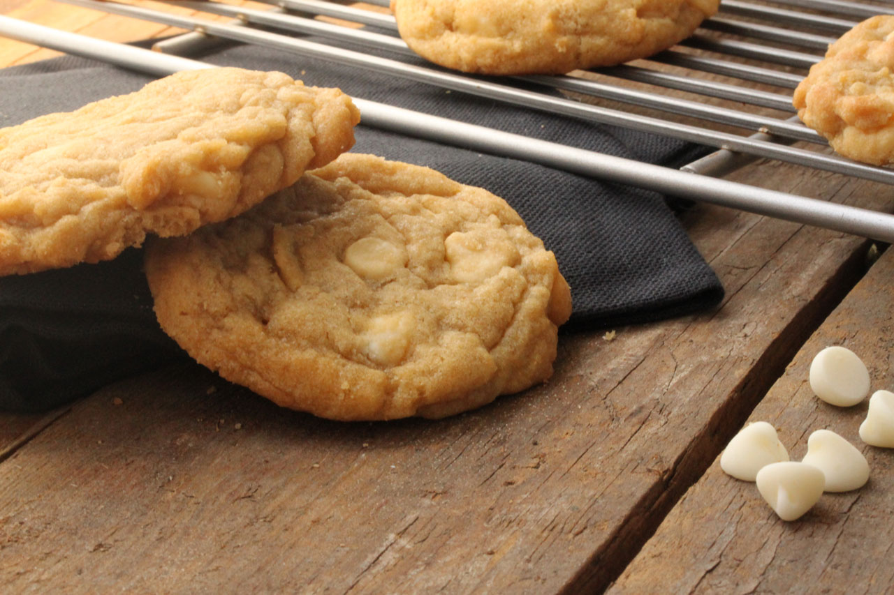 Lemon White Chocolate Chip Cookies - What's Gaby Cooking