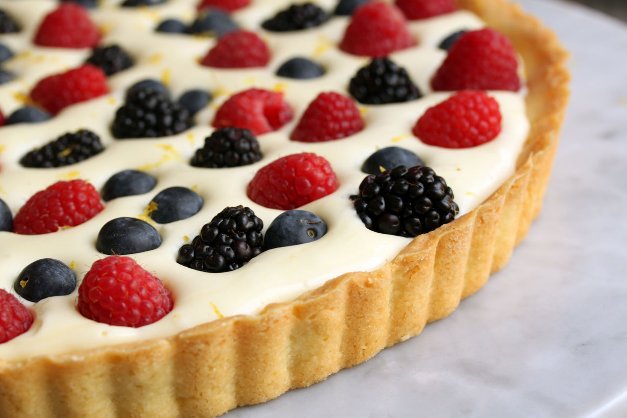 Lemon Curd Mousse Tart - What's Gaby Cooking