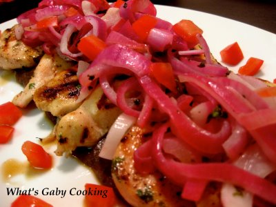 Grilled Lime Chicken with a Black Bean Sauce - What's Gaby Cooking